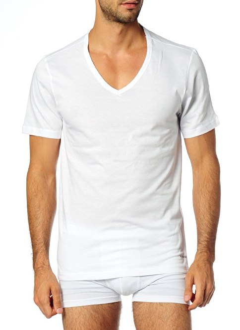 Blackspade V Yaka Tişört Beyaz